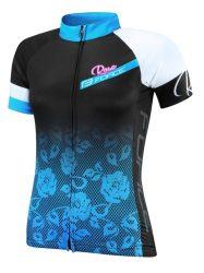 FORCE ROSE kerékpáros mez női fekete-kék
