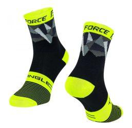 FORCE TRIANGLE sportzokni fekete-fluo-szürke