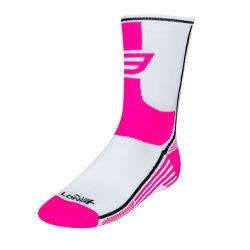 FORCE LONG PLUS sportzokni rózsaszín-fekete-fehér