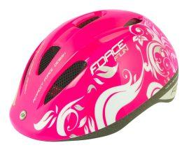 FORCE FUN FLOWERS gyerek kerékpáros siak rózsaszín S (48-54cm)
