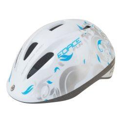 FORCE FUN FLOWERS gyerek kerékpáros sisak fehér-szürke-kék S (48-54)