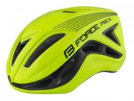 FORCE REX kerékpáros sisak fluo-fekete