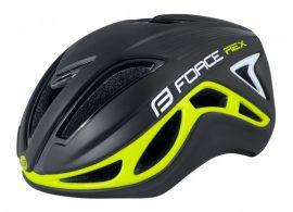 FORCE REX kerékpáros sisak fekete-fluo