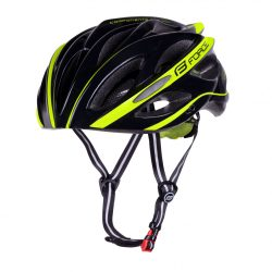 FORCE BULL kerékpáros sisak fekete-fluo