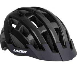 Lazer Compact DLX Black kerékpáros fejvédő